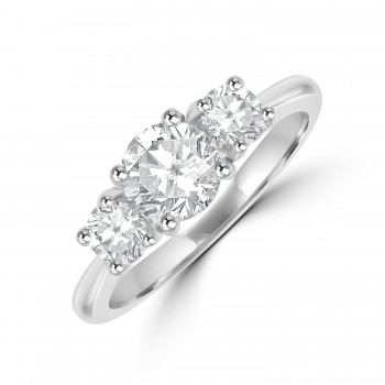 Platinum 3-stone GSi1 Diamond Ring