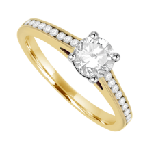 18ct Gold Solitaire .50ct FSi1 Diamond Ring
