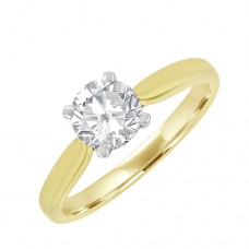 18ct Gold Solitaire HSi2 Diamond Engagement Ring