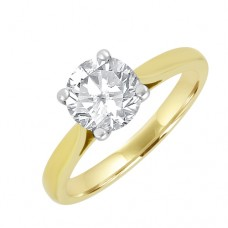 18ct Gold Solitaire Diamond 4-claw Engagement Ring