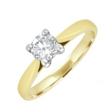 18ct Gold Solitaire FSi2 Diamond Engagement Ring