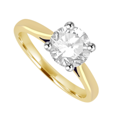 18ct Gold Solitaire 1.08ct Diamond Ring