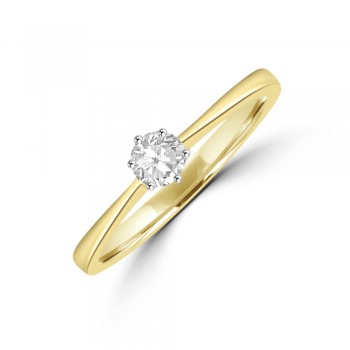 18ct Gold .22ct Diamond Solitaire Ring