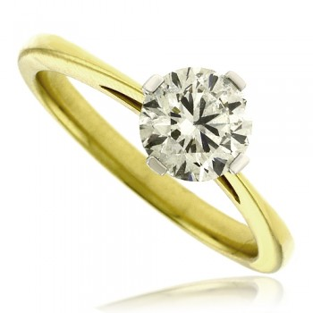 18ct Gold & Platinum Diamond Solitaire Ring