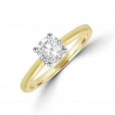 18ct Gold Solitaire ESi1 Diamond Ring