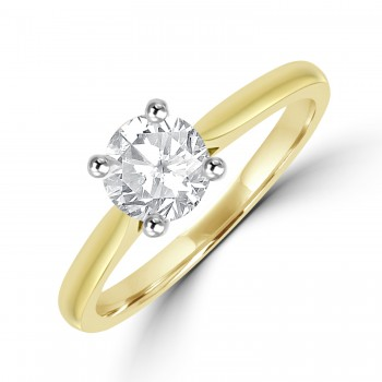 18ct Gold Solitaire FVS2 Diamond Ring