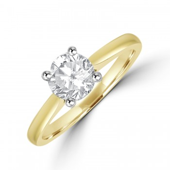 18ct Gold Soltaire EVS2 Diamond Ring