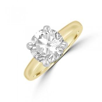18ct Gold (Platinum) Solitaire 2.31ct Diamond Ring