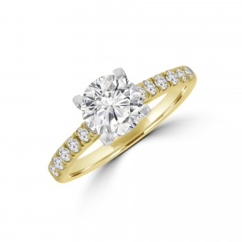 18ct Gold & Platinum Solitaire ESi1 Diamond Ring