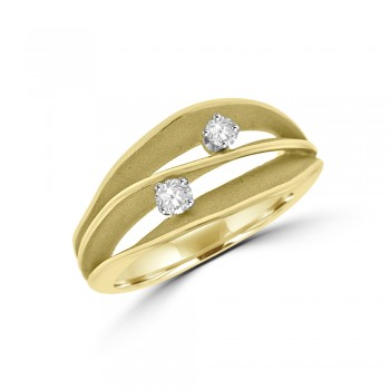 18ct Yellow Gold Diamond Cammilli Wave Ring