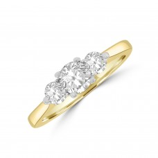 18ct Yellow Gold Three-stone Ring