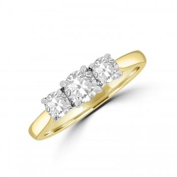 18ct Yellow Gold Three-stone Ring