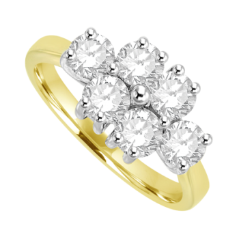 18ct Gold 6 Diamond Cluster Ring