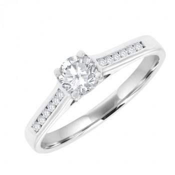 18ct White Solitaire .28ct Diamond Ring