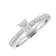 18ct White Gold Solitaire Phoenix DVVS1 Diamond Ring
