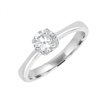 18ct White Gold .53ct Diamond Solitaire Ring