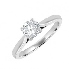 18ct White Gold .46ct  Diamond  Solitaire Ring