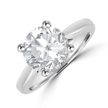 Platinum Solitaire 2.59ct Diamond Ring