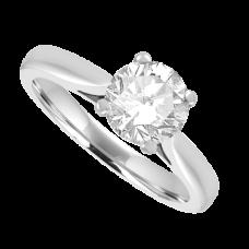 18ct White Gold Solitaire FSi1 Diamond Ring