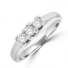18ct White Gold Three-stone Diamond Engagement ring
