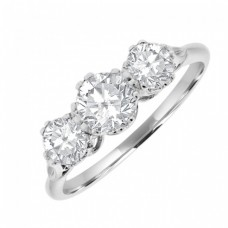 18ct Three-stone Diamond Traditional Engagement Ring