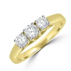 18ct Gold 3-stone Diamond Ring