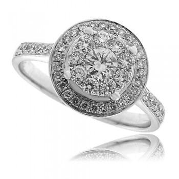 18ct White Gold Diamond Mirage Ring