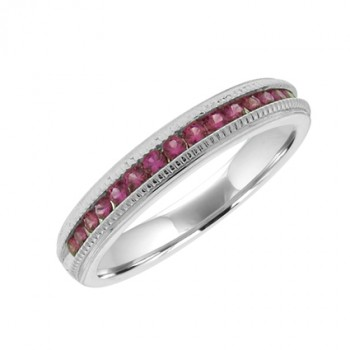 18ct White Gold Ruby Eternity Ring