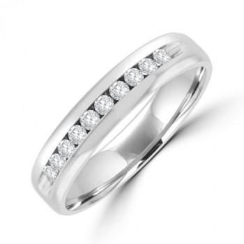 Platinum Diamond Channel Eternity/Wedding Ring