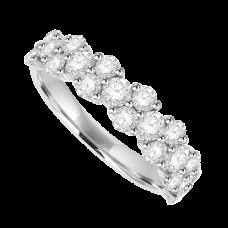 Platinum 20 Diamond 2x1 Eternity Ring