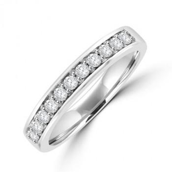 Platinum 11-stone Diamond Channel set Eternity Ring