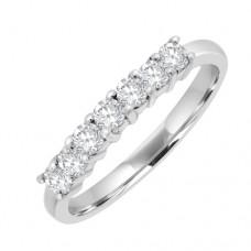 Platinum 7stone Diamond Eternity Ring