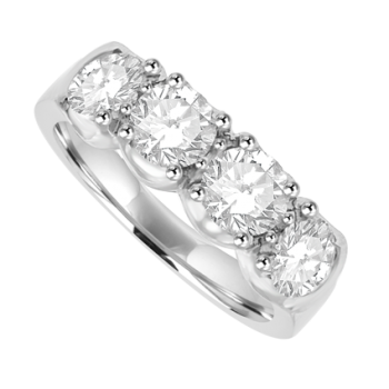 Platinum 4-stone Diamond Eternity Ring