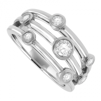 Platinum 6-Stone Diamond Bubble Eternity Ring