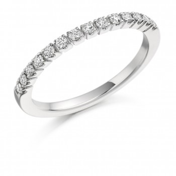 Platinum 14-Stone Diamond Eternity Ring