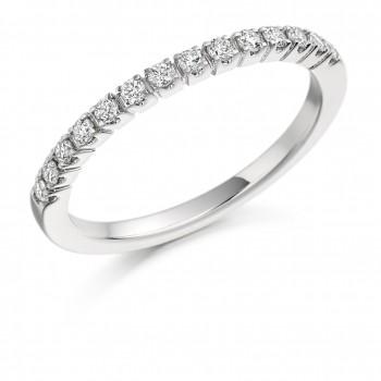 Platinum 14-Stone Diamond Eternity Ring