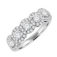 Platinum 5 stone Diamond  Cluster Eterity Ring