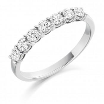 Platinum 7-Stone Diamond Eternity Ring