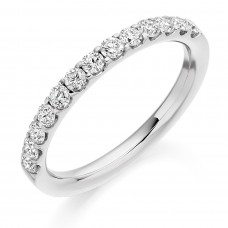 Platinum 13-stone Diamond Eternity Ring