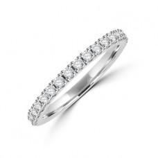 Platinum 19-stone Diamond Castle set Wedding Ring