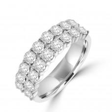 Platinum Double row 1.00ct Diamond Eternity Ring
