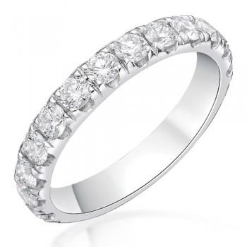Platinum 1.03ct Diamond Castle set Eternity / Wedding Ring