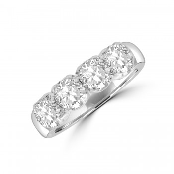 Platinum 4-Stone Diamond Eternity Ring
