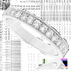 Platinum 17-stone Diamond Eternity Ring