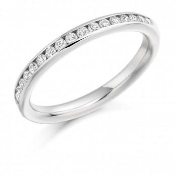Platinum 17-Stone Diamond Wedding/Eternity Ring