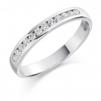 Platinum 12-stone Diamond Wedding Ring