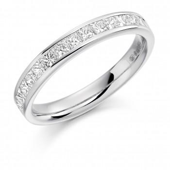 Platinum 14-stone Princess cut .75ct Diamond Wedding/Eternity