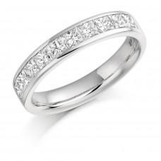 Platinum Princess cut Diamond Wedding Ring