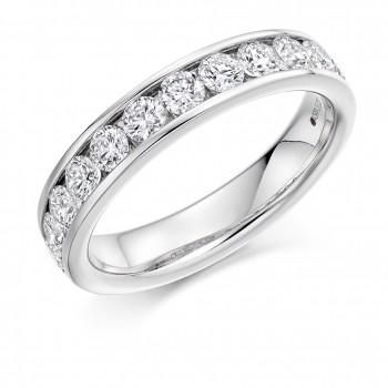 Platinum 1.00ct Diamond Channel Set Eternity Ring