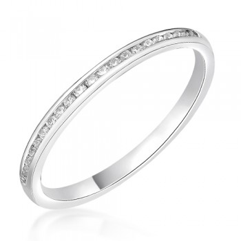Platinum .15ct Diamond Channel set Wedding / Eternity Ring